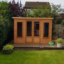 10x8 Farndon with Modern Doors & Windows